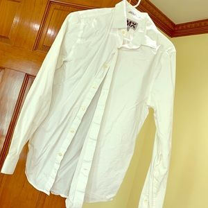 Express 1MX White Fitted Shirt